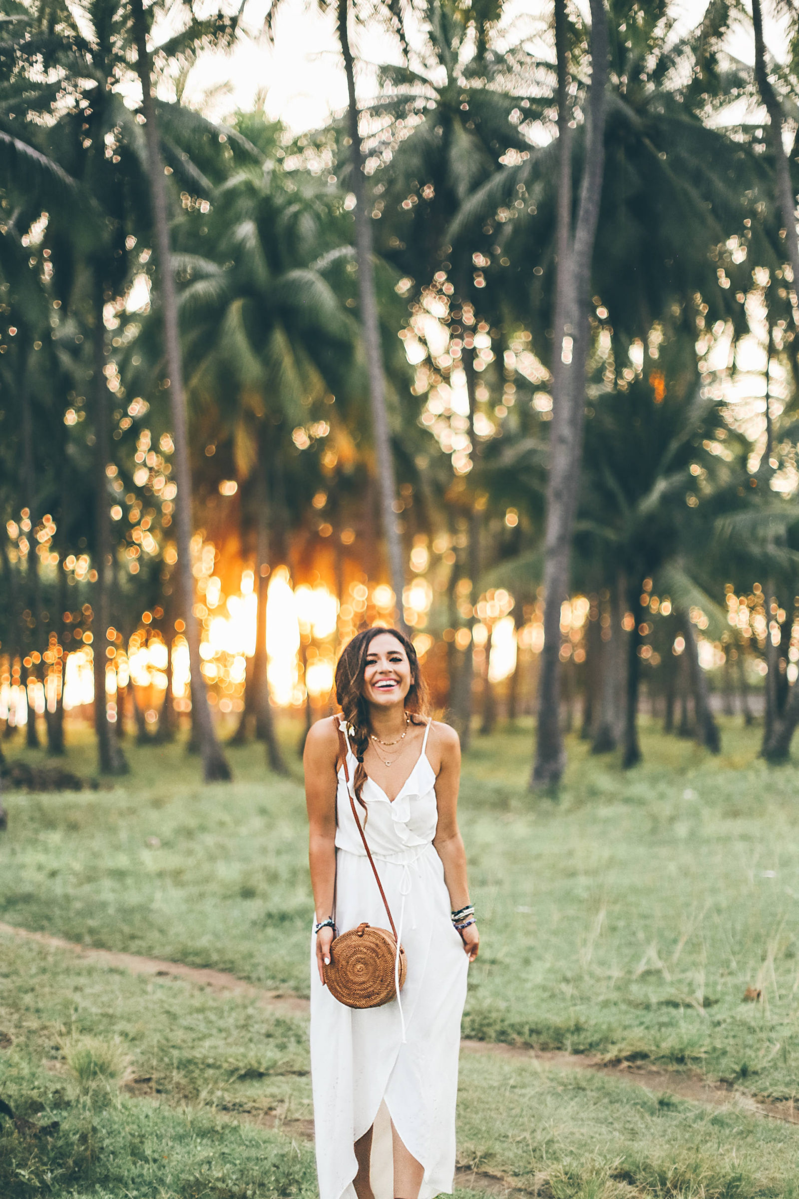 white ruffle dress, bali indonesia, jasmine elias