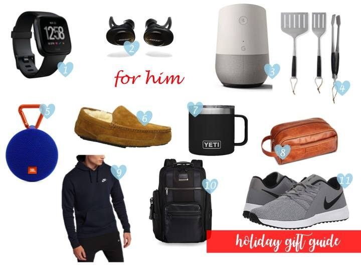 holiday shopping, gift guide for him