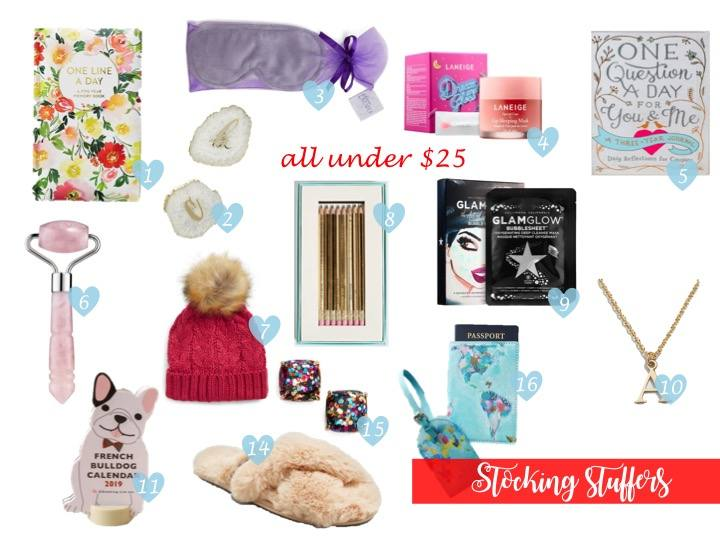 gift guide | stocking stuffers and gifts under $25