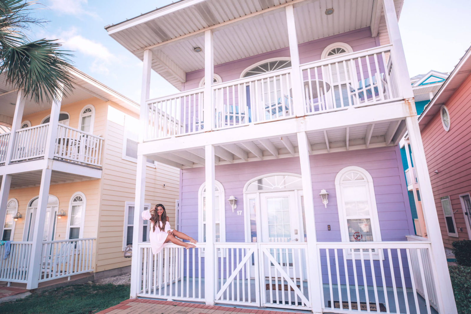 colorful home at panama city beach florida